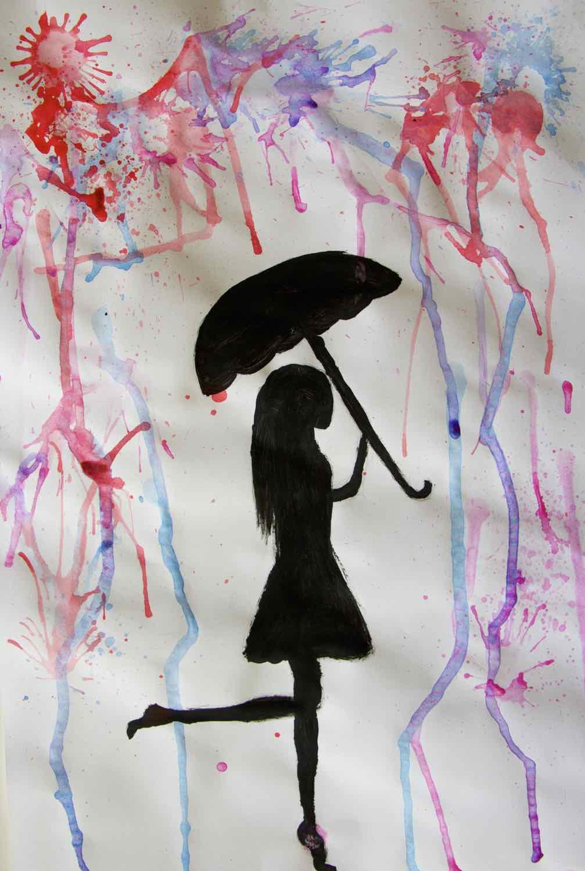 Mit Regenschirm Kunstprofil Der Gso